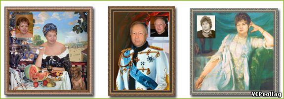 Фотоколлаж на холсте - портрет по фото